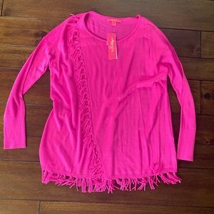 Lilly Pulitzer Fringed pullover sweater